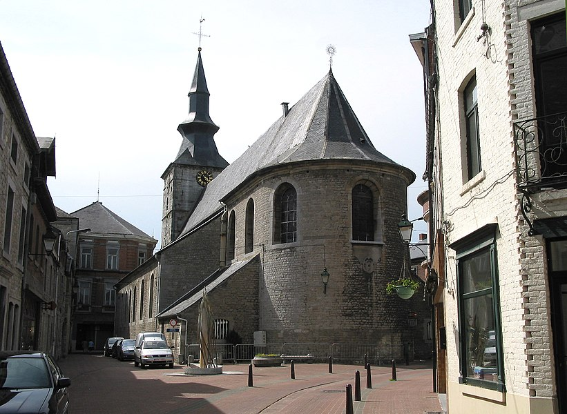Florennes   (Belgium), the Saint-Gangulphe's collegiate church (1755-1756).