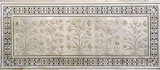 Flowers in marble, Taj Mahal, Agra, India 1.jpg