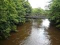Footbridge crossing a flooded River Derwent - geograph.org.uk - 490113.jpg