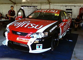 Super2 Series - The Ford BF Falcon of John McIntyre at the Adelaide Parklands Circuit for the opening round of the 2010 Dunlop Super2 Series.