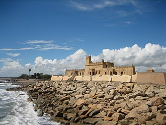 Colonial architecture - Danish Fort Dansborg at Tranquebar, built by Ove Gedde in 1620.