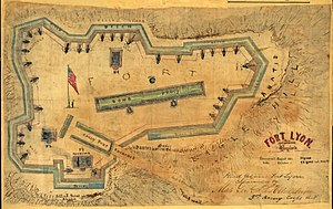 Fort Lyon (Virginia) - Image: Fort Lyon Diagram