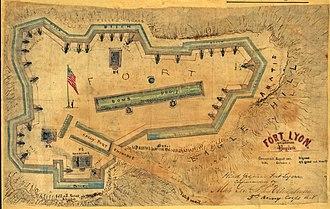 Fort Lyon (Virginia) - Image: Fort Lyon Diagram