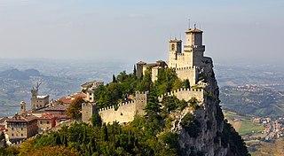 Guaita mountain peak near the city of San Marino