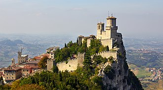 San Marino - The fortress of Guaita on Mount Titano