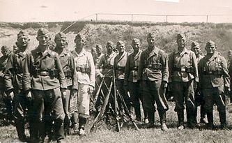 Немецкие солдаты в Рованиеми, 1942.
