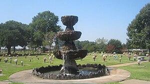Haughton, Louisiana - Image: Fountain at Hillcrest Cemetery in Haughton, LA MVI 2645
