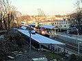 Four Corners Geneva train at inbound platform December 2012.JPG