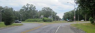 New Jersey Route 70 - The Four Mile Circle as seen from westbound Route 70