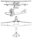 France-Aviation Denhaut 3-view Les Ailes December 9, 1926.png
