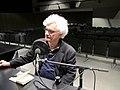 Franco Berardi (Bifo), escriptor, filòsof i teòric dels mitjans de comunicació, durant l'enregistrament d'una entrevista per Ràdio Web MACBA..jpg