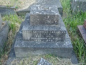 Frank Lascelles (diplomat) - Funerary monument, Brompton Cemetery, London.