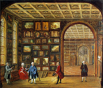 Johann Daniel Bager - The painting collection of Johann Noë Gogel, painting from 1776.