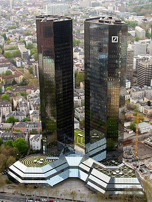 The Deutsche Bank Twin Towers, the headquarter...