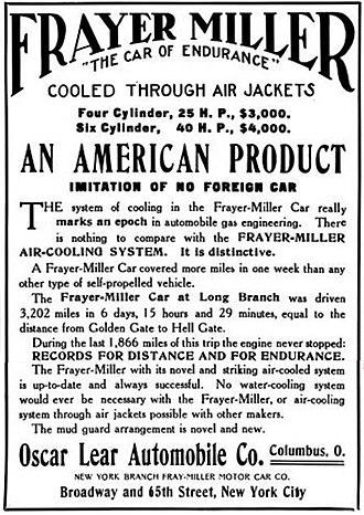 Oscar Lear Automobile Company - Frayer-Miller - Oscar Lear Automobile Co. of Columbus, Ohio - 1906