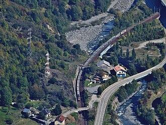 Saint-Michel-de-Maurienne derailment - Image: Fret SNCF en Maurienne, automne 2015