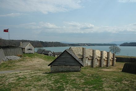 Reconstruction of Fort Loudon, the first British settlement in Tennessee Ftloudouninterior.jpg