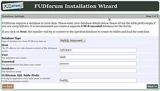 FUDforum - The FUDforum installation wizard
