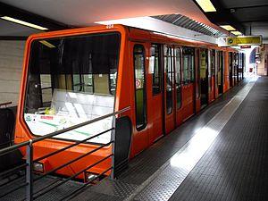 Funiculars of Lyon - Funicular 1 of Lyon at Vieux-Lyon - Cathédrale Saint-Jean station.