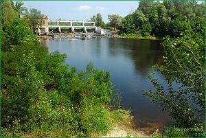 Vorskla River - Image: GES Opishnya