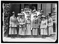 GIRL SCOUTS. NATIONAL AND LOCAL OFFICERS, LEFT, MRS. JAMES STORROW OF BOSTON; 2ND FROM LEFT FRONT, MRS. JULIETTE LOW, FOUNDER; 4TH FROM LEFT FRONT, VERA LAWRENCE, DIST. COMMANDR.; ABOVE LCCN2016869306.jpg