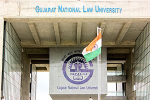 Gujarat National Law University - The GNLU was the seventh National Law University to be set up in the country.