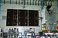 GSAT-31 during south solar panel deployment test.jpg