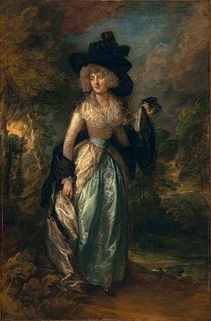 Robert Petre, 9th Baron Petre - Juliana Barbara Howard, painting by Thomas Gainsborough (1788)