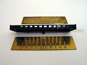 Harmonica - Comb and two reed plates