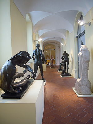 Galleria Comunale d'Arte Moderna, Rome - The sculpture gallery of the Galleria Comunale d'Arte Moderna