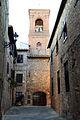 Gambassi terme, resti della chiesa dei ss. jacopo e stefano, campanile.JPG