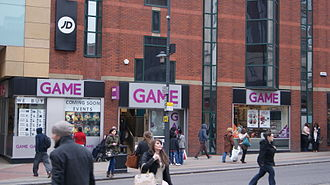 Game (retailer) - Game on the Headrow in Leeds (2013).