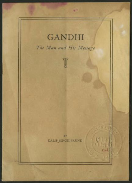 File:Gandhi The Man and His Message.djvu