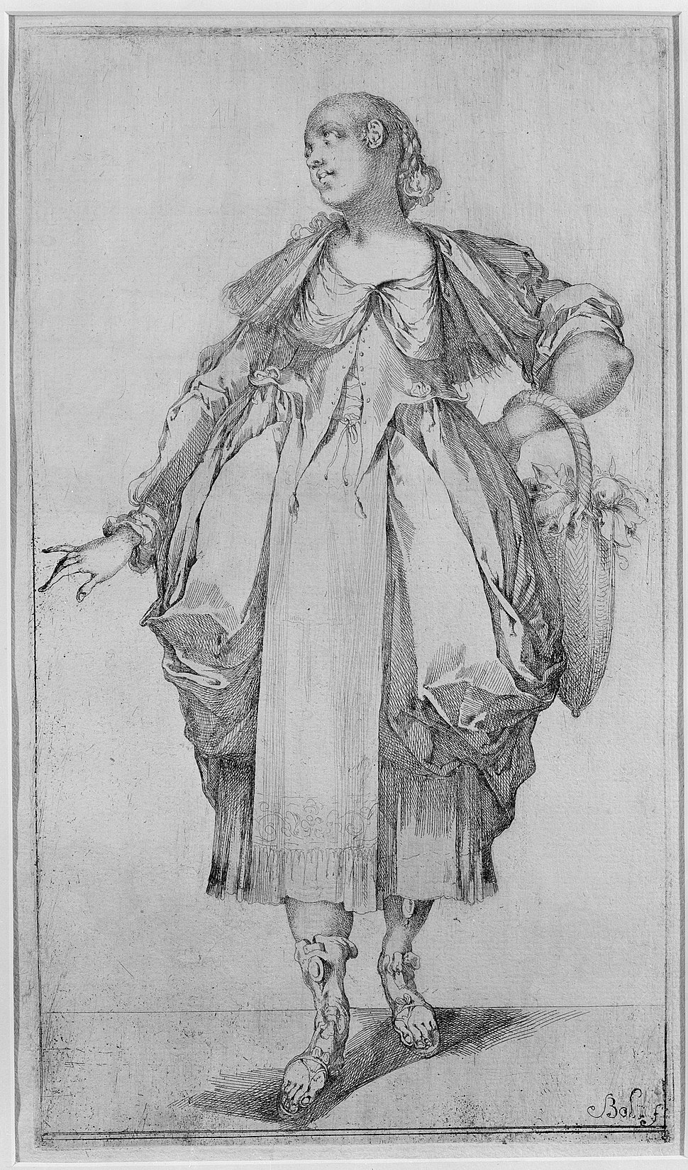 Gardener with a Basket on her Arm, from Hortulanae series MET MM10514
