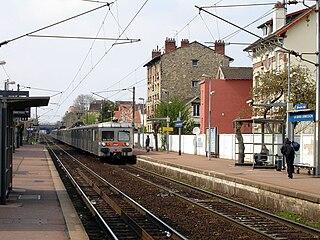 railway station in Deuil-la-Barre, France