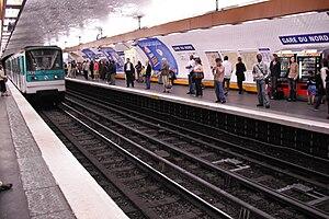 Gare du Nord (Paris Métro) - Image: Gare du Nord line 5 Métro Station