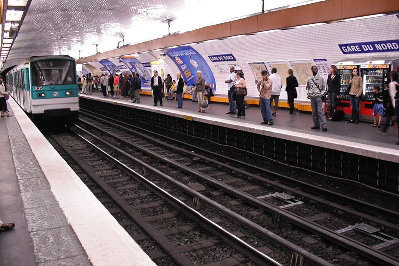Platform of line 5 at Gare du Nord