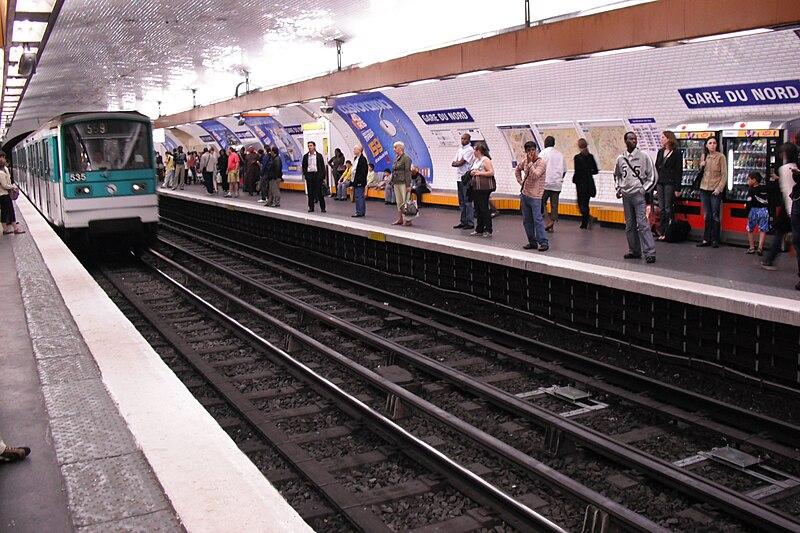 Platform of line 5 at Gare du Nord