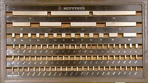Gauge block - Metric gauge block set