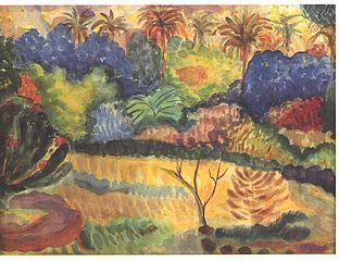 Gauguin - Tahitische Landschaft - Fauvismo - Domingo com Limonada