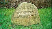 Gedenkstein auf dem Gelände des ehemaligen KZ Wilhelmshaven