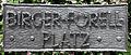 Gedenktafel Birger-Forell-Platz (Wilmd) Birger-Forell-Platz.jpg