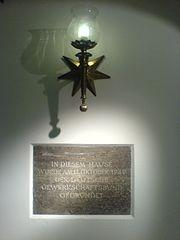 Gedenktafel anläßlich der Gründung des Deutschen Gewerkschaftsbundes im Deutschen Museum