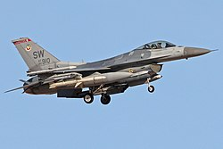 A Lockheed Martin F-16C of the 77th Fighter Squadron, part of the 20th Fighter Wing based at Shaw AFB.