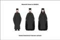 Generic exterior habit of the Byzantine and Melkite lay professed monks.png