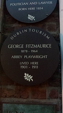 Photo of George Fitzmaurice brown plaque
