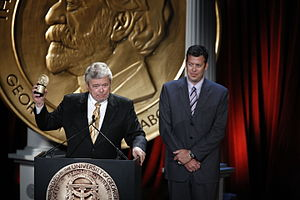 KLAS-TV - George Knapp and Matt Adams of KLAS-TV at the 68th Annual Peabody Awards for Crossfire-Water, Power and Politics