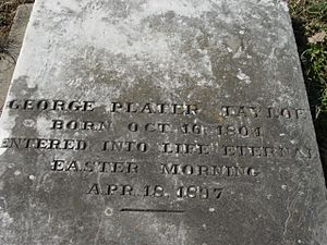 George Plater Tayloe - Grave of George Plater Tayloe of Buena Vista, Roanoke, VA