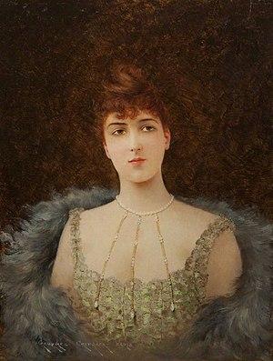 Georges Croegaert - Portrait of an Auburn-Haired Woman