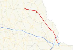 Georgia State Route 21 - Image: Georgia state route 21 map